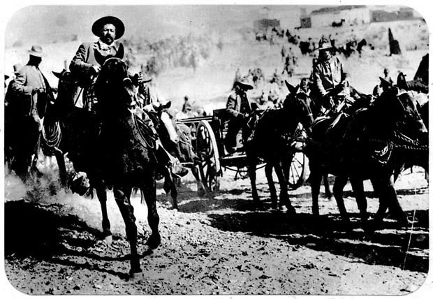 Pancho Villa rides at the head of his rebel army in Mexico in 1916. American soldiers pursued Villa into Mexico after the raid on Columbus, N.M., but he eluded capture. He was assassinated by political enemies in Mexico in 1923. (AP Photo)